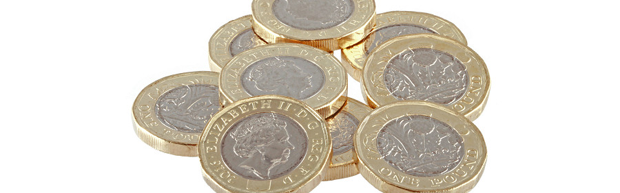 Pound coins illustrating the North East franchise set up costs and cashflow